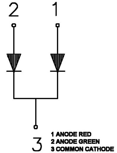 SMD LED, DUOLED piros/zöld KM-23ESGW KINGBR.