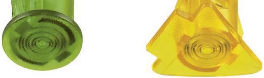 Szimbólumos LED-es jelzőlámpa 24 V, Ø 5 mm, sárga, négyszög, Signal Construct SKHD05104