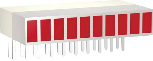 LED sor, 10 részes, 25,4 x 14 x 5 mm, piros, Signal Construct ZAEW1030