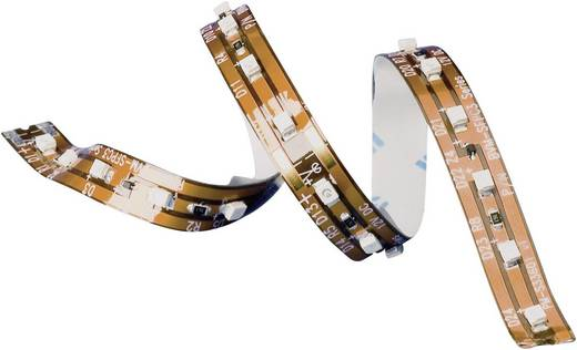 Hajlékony öntapadó LED csík amber 16,8cm/12 LED