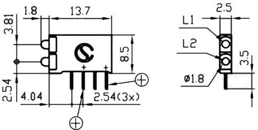 Signal Construct Mini-Line kettős-LED, 15,5x2,5x12mm, zöld-zöld, DBI01322