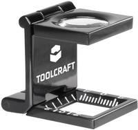 Talpas nagyító, összecsukható szál nagyító 10x-es nagyítással 14 mm, fekete színű TOOLCRAFT 1505088 (1505088) TOOLCRAFT