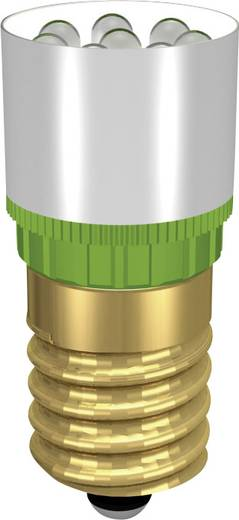Signal Construct LED izzó, 230V, E14, ultra-zöld, MCRE148378