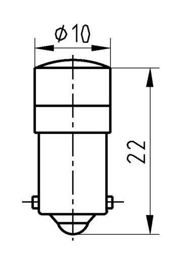 Spot-Light, BA9S fejjel Signal Construct MELB2204 Piros Üzemi feszültség 24 V/DC Foglalat BA9s