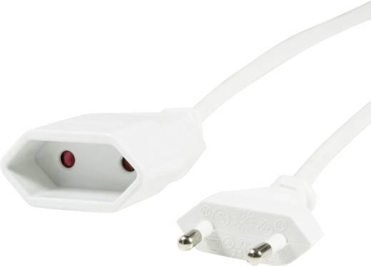Euro dugós hálózati kábel, hosszabbító, toldó kábel 2 m fehér LogiLink CP126