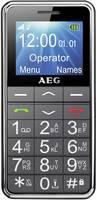 AEG SM250 Mobiltelefon időseknek SOS gomb Fekete AEG