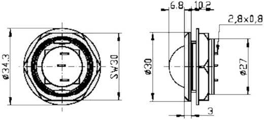 Jumbo LED-es jelzőlámpa 24 V, Ø 20 mm, piros, Signal Construct LDC20024