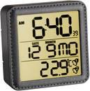 Rádióvezérelt DCF ébresztőóra, beltéri hőmérővel, fekete színű Eurochron EFW135 Eurochron