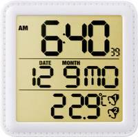 Rádióvezérelt DCF ébresztőóra, beltéri hőmérővel, fehér színű Eurochron EFW135 Eurochron