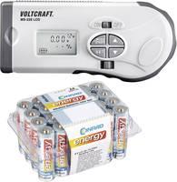 Elemvizsgáló készülék MS-229 LCD + Conrad Energy alkáli ceruzaelem készlet, 24 db, Voltcraft VOLTCRAFT