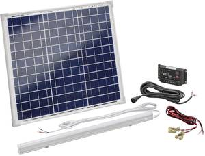 Napelemes készlet 30 Wp Töltésszabályozóval, LED-es lámpával, Esotec 120006 Esotec