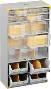 Alkatrésztároló szekrény, fiókos, 19 rekszes 300 x 165 x 565 mm Allit 465610 (465610) Allit