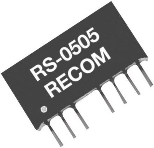 2 W-os DC/DC átalakító, RS sorozat, bemenet: 36 - 72 V/DC, kimenet: ±15 V/DC ±67 mA 2 W, Recom International RS-4815D