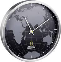 National Geographic 9080000 Kvarc Falióra 300 mm x 45 mm Alumínium (csiszolt) Zajtalan óraszerkezet (9080000) National Geographic
