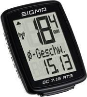 Vezeték nélküli kerékpár komputer, kódolt, Sigma BC 7.16 ATS Sigma