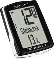 Vezeték nélküli kerékpár komputer, kódolt, Sigma BC 14.16 STS (01417) Sigma