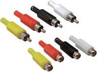 RCA aljzat készlet, sárga, piros, fekete, fehér, 8 db, Tru Components TRU COMPONENTS