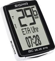 Vezeték nélküli kerékpár komputer, kódolt, Sigma BC 16.16 STS Sigma
