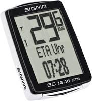 Vezeték nélküli kerékpár komputer, kódolt, Sigma BC 16.16 STS CAD Sigma