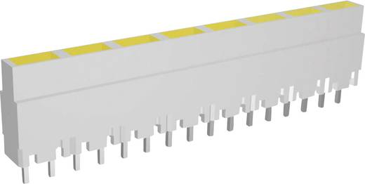Signal Construct LED sor, 8-as, 40,8 x 3,7 x 9 mm, sárga, ZALW 081