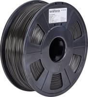 3D nyomtatószál, 1,75 mm, PLA, fekete, 1 kg, Renkforce 01.04.01.1103 Renkforce