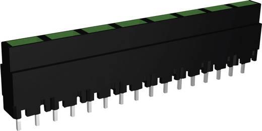 Signal Construct LED sor, 8-as, 40,8 x 3,7 x 9 mm, zöld, ZALS 082