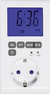 Sygonix Dugalj időkapcsoló óra Digitális Napi program 3680 W IP20 Kijelző megvilágítás, Időzítő funkció Sygonix