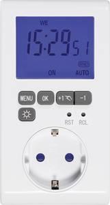 Sygonix Dugalj időkapcsoló óra Digitális Heti program 3680 W IP20 Visszaszámláló funkció, Időzítő funkció Sygonix