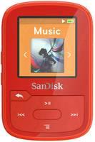 SanDisk MP3 lejátszó 16 GB Piros Rögzítő csíptető, Bluetooth, Vízálló SanDisk