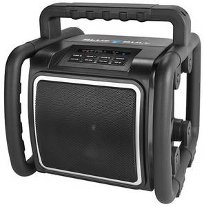 Bluetooth hangfal PerfectPro BlueBull Fröccsenő víz ellen védett, USB Fekete PerfectPro