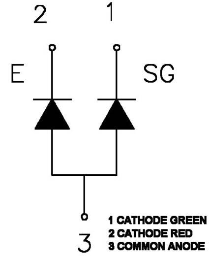 SMD LED-S.piros/zöld KM-23SGEW-CA KINGBR.