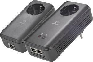 Powerline WLAN Starter Kit, konnektoros internet átvivő készlet 1,2 Gbit/s, Renkforce PL1200D WiFi Renkforce