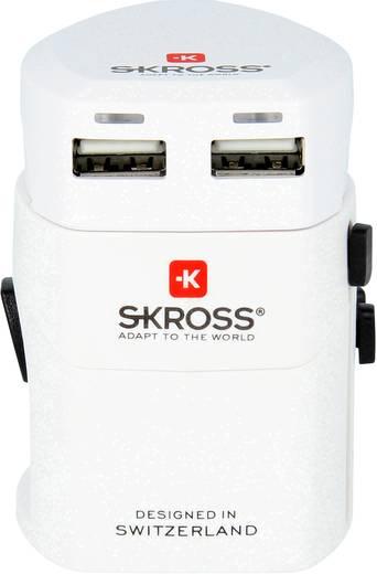 Univerzális konnektor átalakító adapter USB töltőkészülékkel, Skross 1.302.101