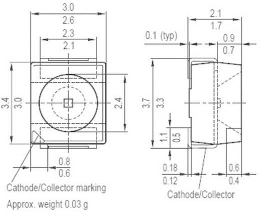 Infravörös lumineszcens dióda/sugárzó SMT házban hullámhossz 950nm Osram Components SFH 420