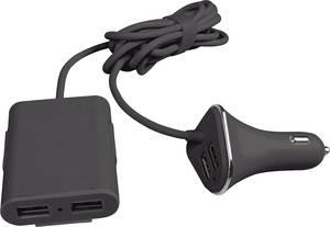 Szivargyújtós USB töltő, 4x USB, max. 9600 mA, Eufab 16471 (16471) Eufab