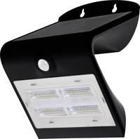Napelemes kültéri fali lámpa mozgásérzékelővel, 3,2W, fekete, DioDor 3,2W-B DioDor