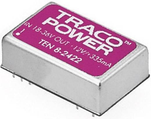 DC/DC átalakító, TEN 8 sorozat, bemenet: 18 - 36 V/DC, kimenet: 12 V/DC max. 665 mA 8 W, TracoPower TEN 8-2412
