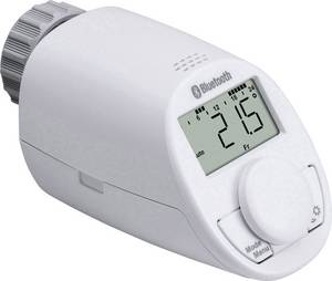Vezeték nélküli radiátor termosztát, bluetooth és smart funkcióval Android és iOS alkalmazásokhoz eqiva CC-RT-BLE-EQ eqiva