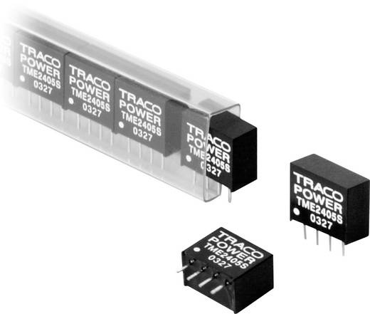 DC/DC átalakító, TME sorozat, 1 Watt, SIL-4, bemenet: (±10 %) 12 V/DC, kimenet: 12 V/DC 80 mA 1 W, TracoPower TME 1212S