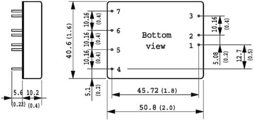 DC/DC átalakító, TEN 20 sorozat, bemenet: 18 - 75 V/DC, kimenet: 5 V/DC max. 4 A 20 W, TracoPower TEN 20-4811WI