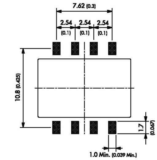 DC/DC átalakító, TSM sorozat, 1 Watt, bemenet: (±10 %) 5 V/DC, kimenet: 12 V/DC 80 mA 1 W, TracoPower TSM 0512S