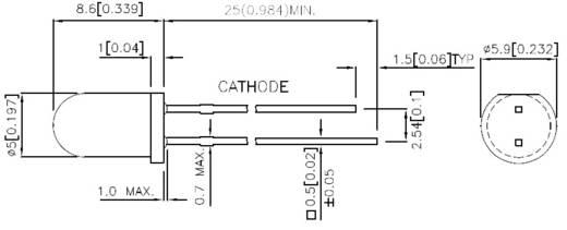 Infravörös LED-ek Kingbright L-53SF4C Ház típus 5 mm Hullámhossz 880 nm