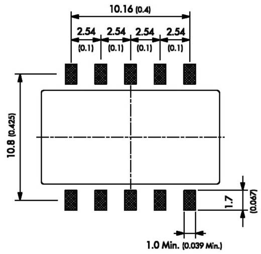 DC/DC átalakító, TSM sorozat, 1 Watt, bemenet: (±10 %) 5 V/DC, kimenet: ±12 V/DC ±40 mA 1 W, TracoPower TSM 0512D