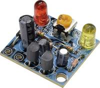 Kemo B092 Villogó fény építőkészlet Kivitel: Építőkészlet 6 V/DC, 9 V/DC, 12 V/DC Kemo