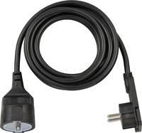 Lapos dugós hálózati hosszabbítókábel, 3 m, fekete, H05VV-F 3G 1,5 mm², Brennenstuhl 1168980030 Brennenstuhl