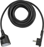 Lapos dugós hálózati hosszabbítókábel, 5 m, fekete, H05VV-F 3G 1,5 mm², Brennenstuhl 1168980050 (1168980050) Brennenstuhl