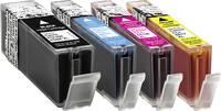 Utángyártott nyomtatópatron Canon PGI-550, CLI-551 fekete, cián, bíbor, sárga Basetech BTC89 1518,005 Basetech