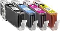 Utángyártott nyomtatópatron Canon CLI-551 Fotó fekete, cián, bíbor, sárga, Basetech BTC90 1520,0050-126 Basetech