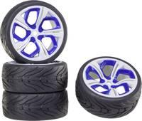 Reely 1:10 Közúti modell Komplett kerék On-Road 5 küllős Fehér-kék 1 db Reely