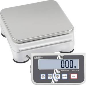 Precíziós mérleg Kern Mérési tartomány (max.) 3.500 kg Leolvashatóság 0.01 g Hálózati adapterről üzemeltetett, Elemekr Kern